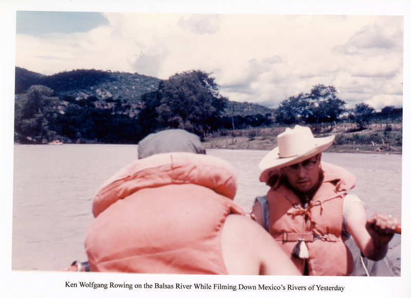 Ken Wolfgang Rowing on the Balsas River While Filming Down Mexico's Rivers of Yesterday