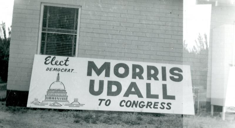 Signage, congressional campaign, 1961