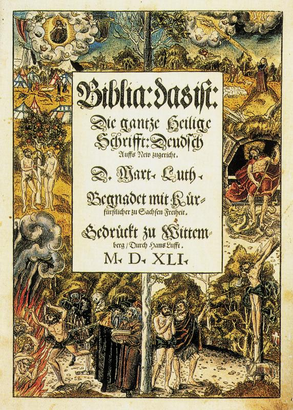 Title page, Martin Luther's German Bible, 1541