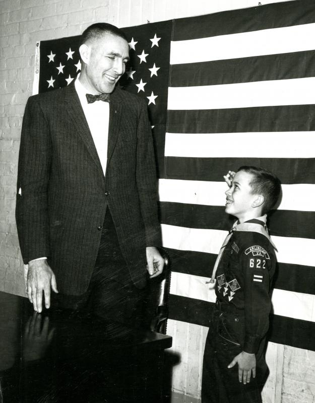 Morris K. Udall with a Cub Scout, 1960s