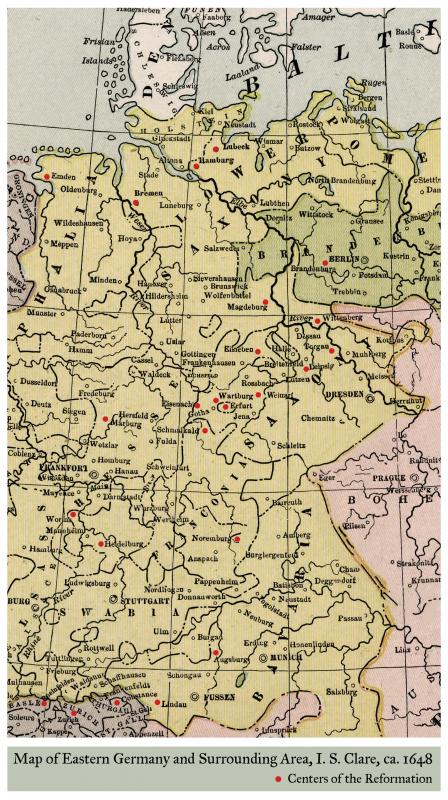 Map Of East Germany And Surrounding Area Reformation Special
