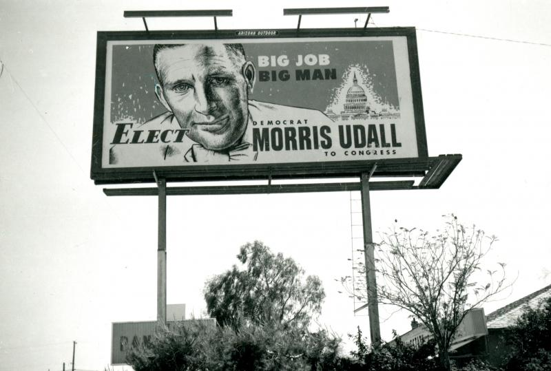 Billboard signage, congressional campaign, 1961