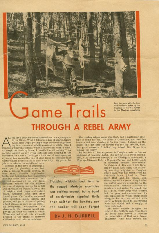 Game trails through a rebel army<br />