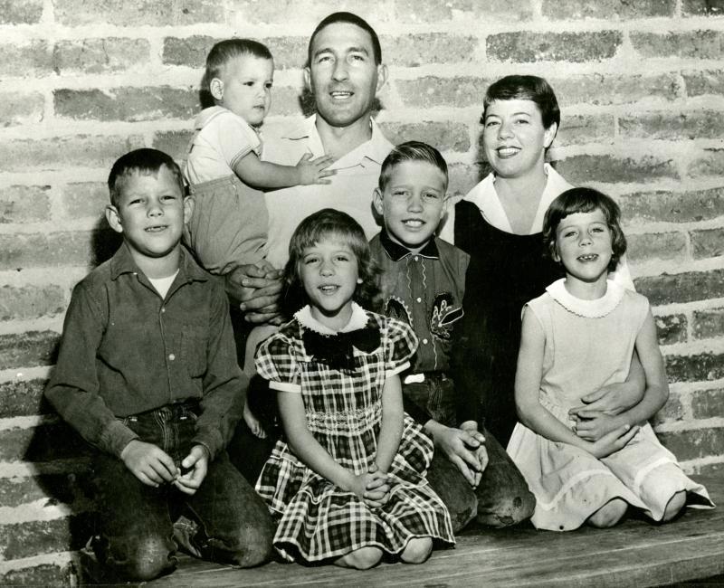 Family portrait taken during Stewart&#039;s first run for Congress, 1954<br />
