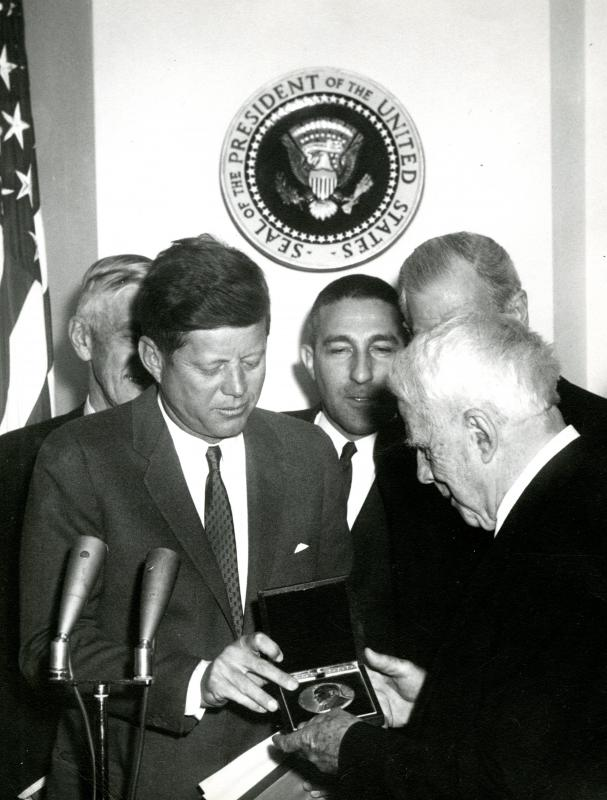 President Kennedy, Robert Frost and Stewart Udall,1962