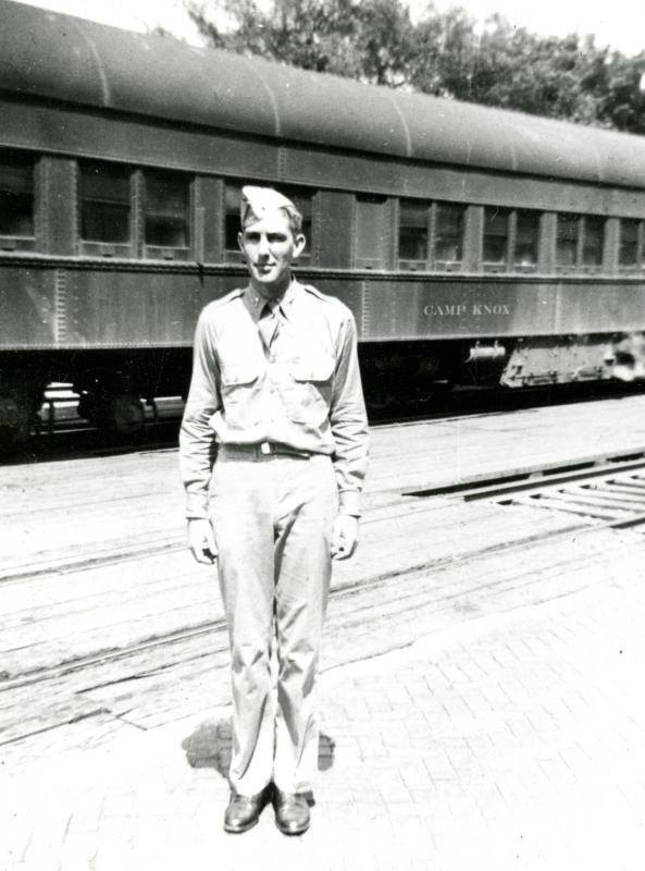 Morris K. Udall in Army service, 1940s