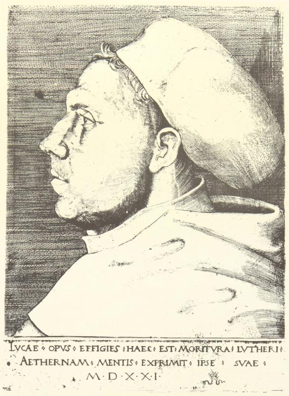 Portrait of Martin Luther, 1521