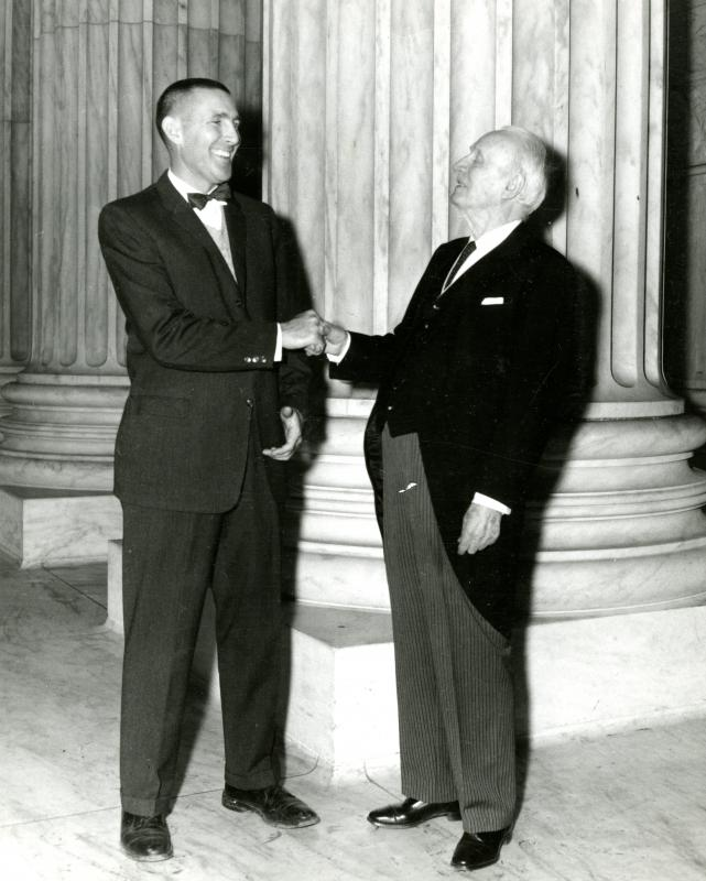 Morris K. Udall with Sen. H. F. Ashurst, 1962