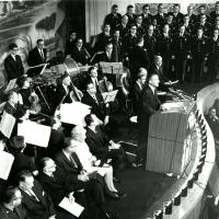 Opening ceremonies for the restored Ford Theater, 1968<br />