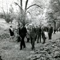 Udall and Frost at Dumbarton Oaks, 1962<br />