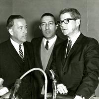 Senator Jackson, Stewart Udall, Agriculture Secretary Orville Freeman, 1967