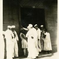 Sailors Standing Outside Coconut Grove, Panama