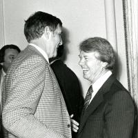 Udall with Jimmy Carter, New York, 1976