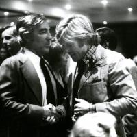 Stewart Udall with Robert Redford. 1982.