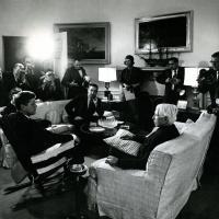 Carl Sandburg visits the White House, 1961<br />