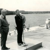 Thompson Boat Center dedication, Washington D. C., 1961<br />
