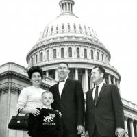 Photo in front of the Capitol, 1960s