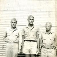 Morris K. Udall, Army captain in Saipan, 1946
