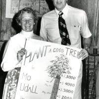 """""""Plant a Good Tree"""" fund with Udall. Campaign trail. 1976."""
