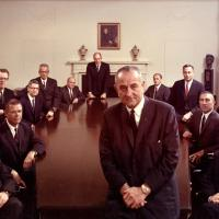Udall and others with President Johnson, 1967