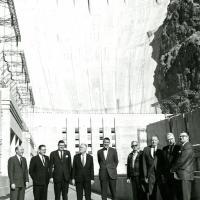 Hoover Dam visit, 1966