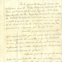 Escrito de certifiación de Luis Ibarra, 1945-11-02<br />