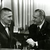 Udall with President Johnson, 1960s