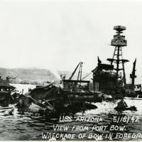 Wreckage of the USS Arizona Bow