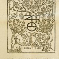 Detail of Correspondence. Opvs epistolarvm Divi Hieronymi Stridonensis / vna cum scholijs Des. Erasmi Roterodami, denuo per illum non vulgari cura recognitum, correctum ac locupletatum.