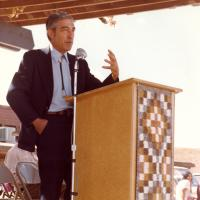 Stewart Udall in Navajo, New Mexico, 1978