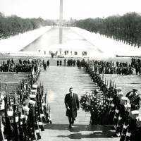 Wreath-laying, Lincoln Memorial, 1964<br />