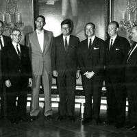 Udall with President Kennedy and group, 1961