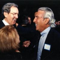 Stewart Udall with retired Sec. of State Edmund Muskie, 1993<br />