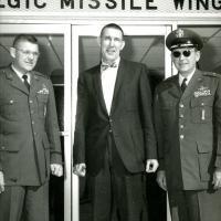 Col. Sampson 390 SMC Commander and B/G Garland 12 SAD Commander with Morris K. Udall. 1960s.