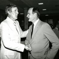 Morris K. Udall with George Bush, 1970s