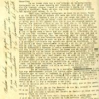 Carta de Benjamín De la Torre a su madre Marìa Uribarren, 1935-12-09