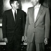 Udall with President Kennedy, 1961