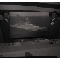 Presentation of official photo of USS Arizona