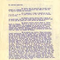 Carta de Francisco De la Torre a su madre María Uribarren, 1923-12-03