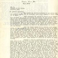 Carta de Benjamín De la Torre a su padre, 1945-05-13