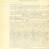 Carta de Benjamín De la Torre a su madre María Uribarren, 1941-09-21