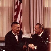 Udall with President Johnson, 1964