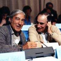 Udall with Paul Ehrlick at Sundance, 1989