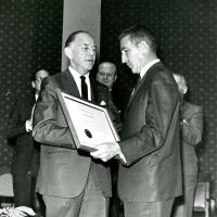 Stewart Udall with Bob McConnell, 1960s.
