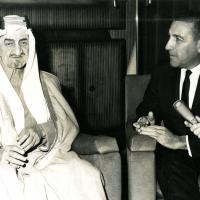 Stewart Udall with King Faisal Riyad, Saudi Arabia. April 1966.