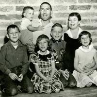 Family portrait taken during Stewart's first run for Congress, 1954