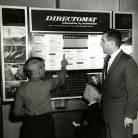 Stewart Udall, automatic information directory, 1960s.