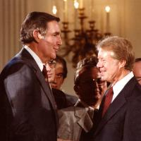 Udall with President Carter, 1970s