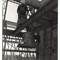 Installation of USS Arizona bell at University of Arizona