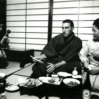 Dinner on Japan&#039;s Hokkaido island, 1961<br />